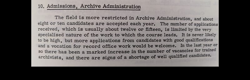 Admission Archive Administration